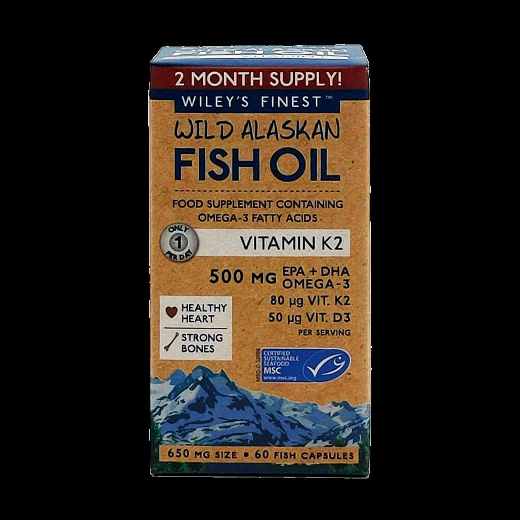 Wild Alaskan Fish Oil Vitamin K2 500mg 60's
