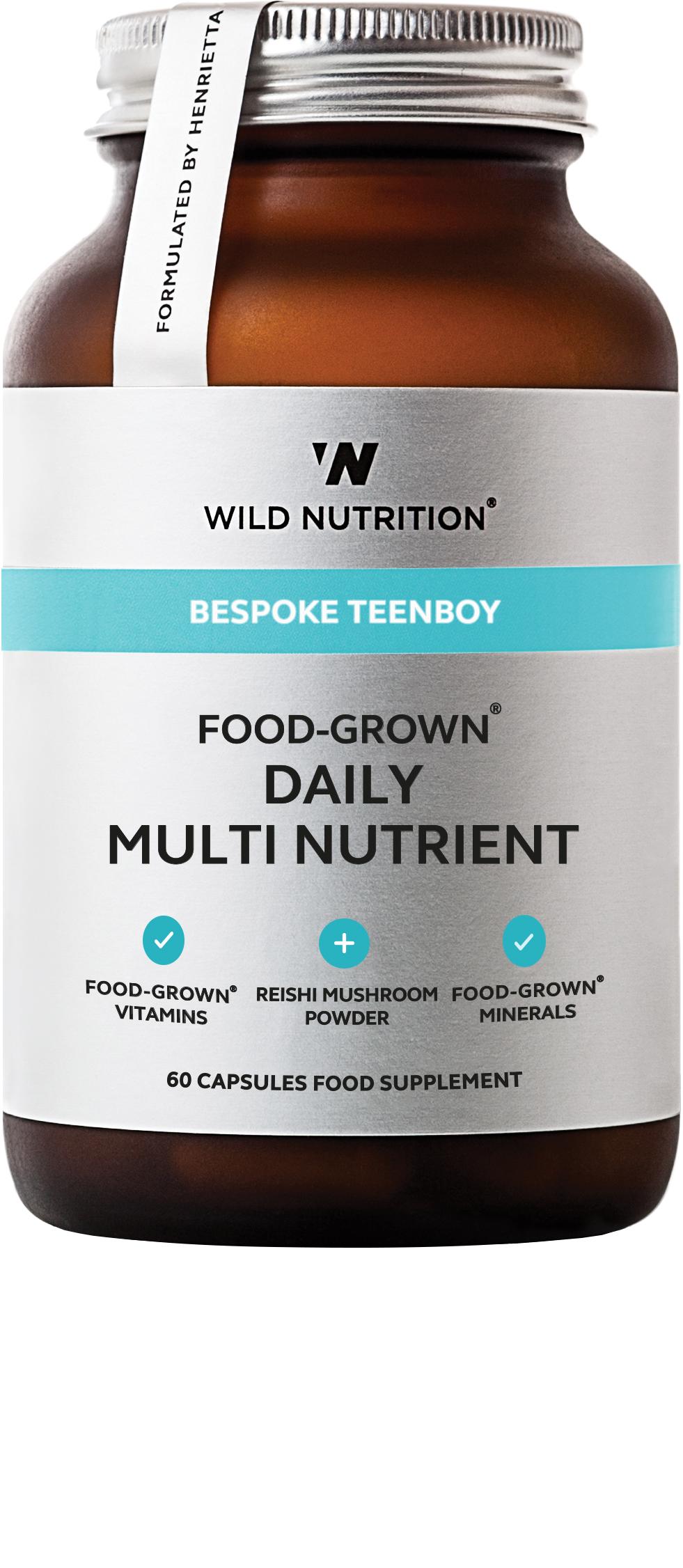 Bespoke TeenBoy Food-Grown Daily Multi Nutrient 60's